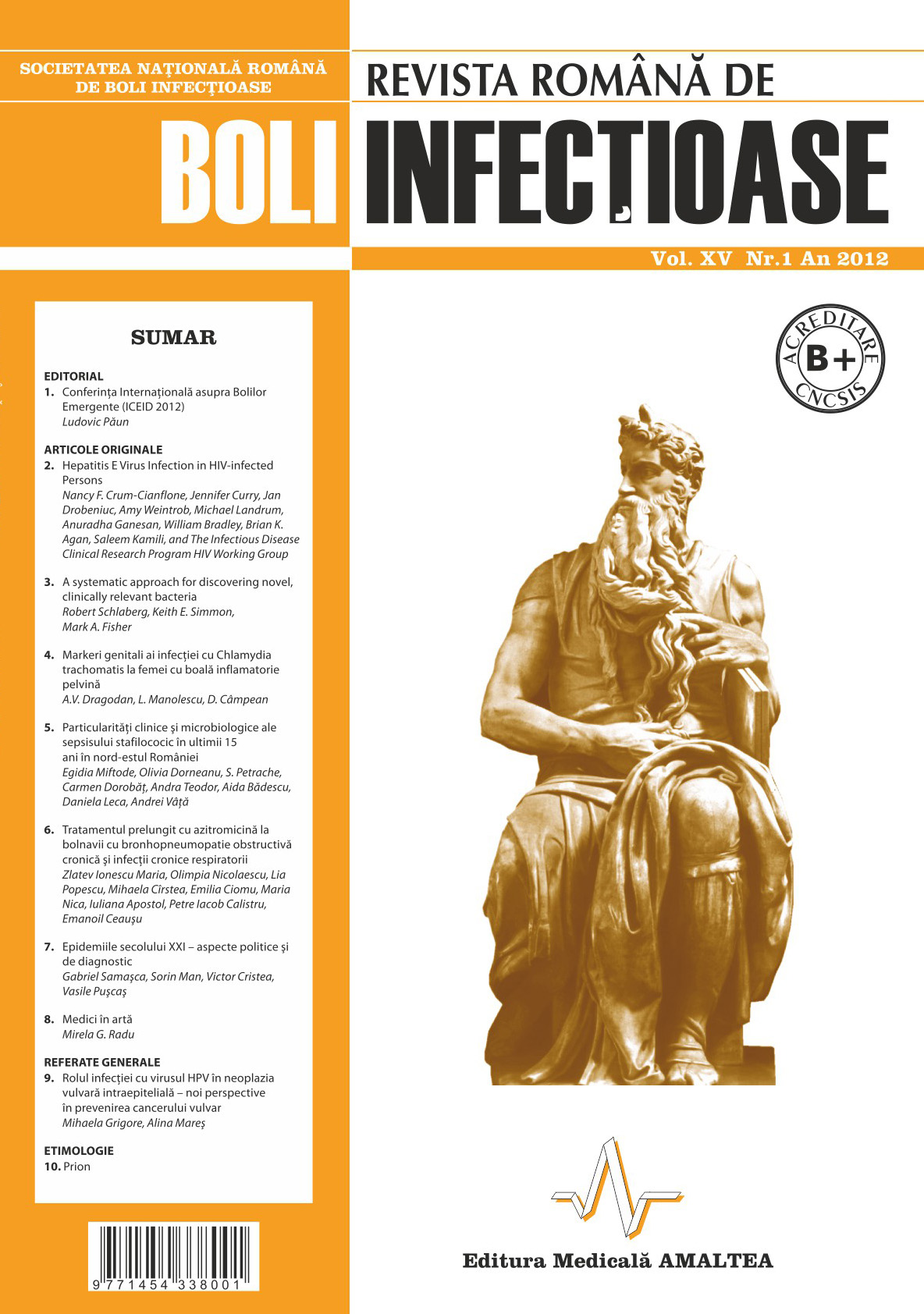 Revista Romana de Boli Infectioase | Vol. XV, No. 1, 2012