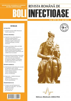 Revista Romana de Boli Infectioase | Volumul XVI, Nr. 1, An 2013