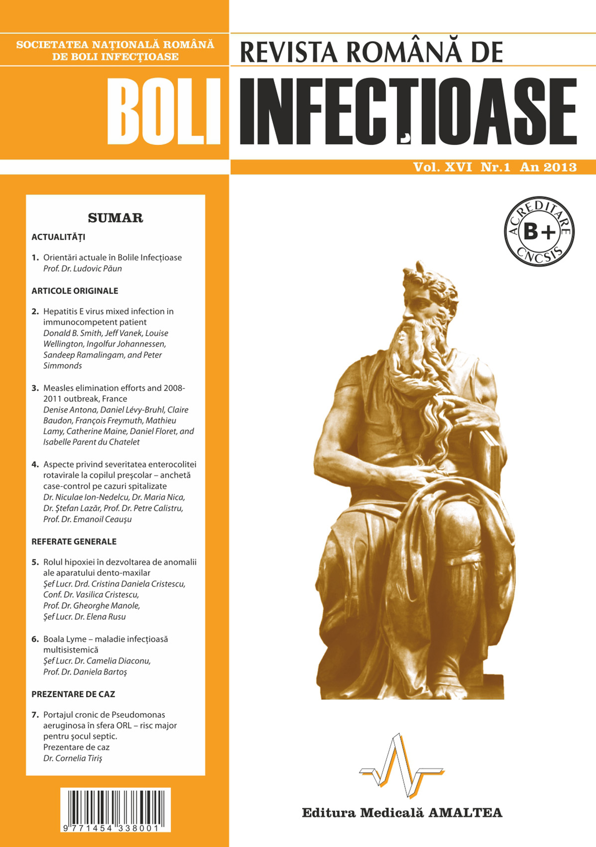 Revista Romana de Boli Infectioase | Vol. XVI, No. 1, 2013