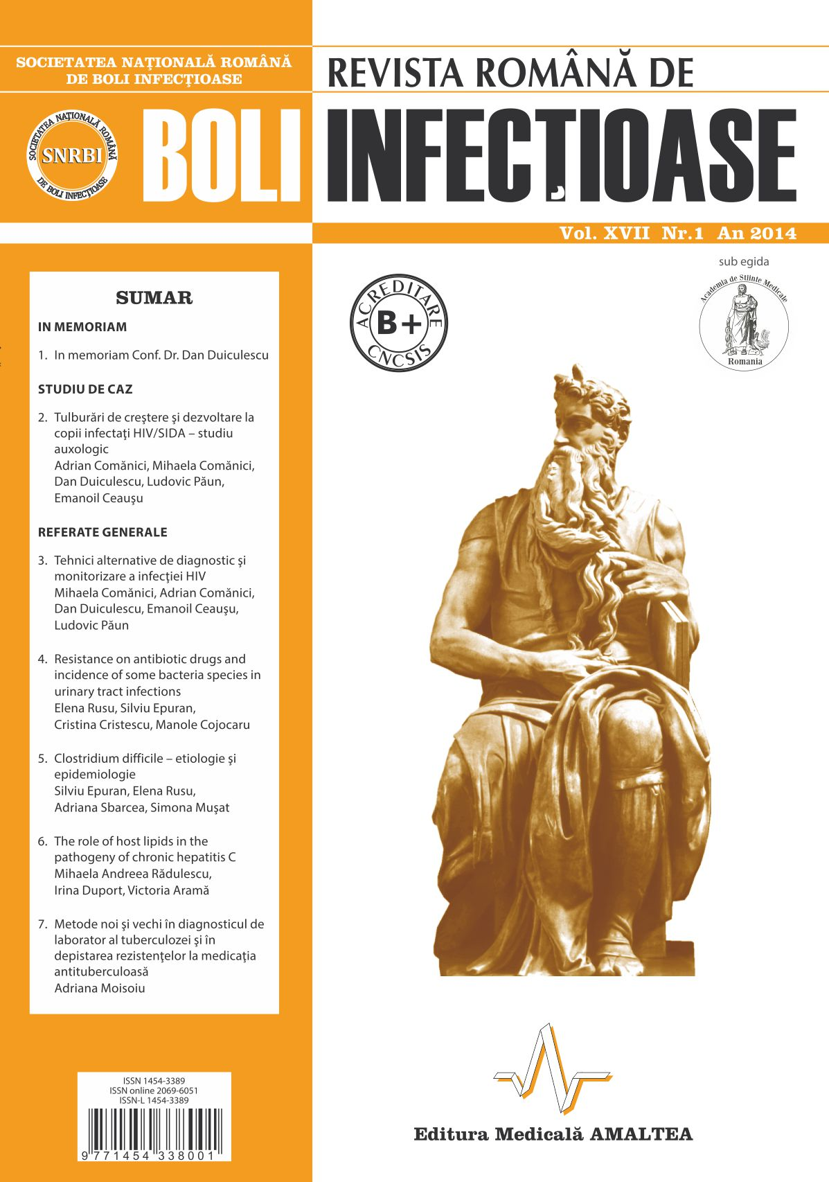 Revista Romana de Boli Infectioase | Vol. XVII, No. 1, 2014