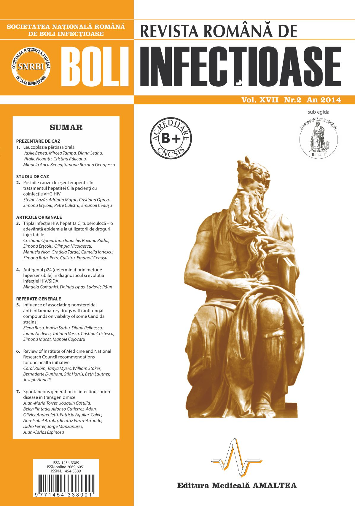 Revista Romana de Boli Infectioase | Vol. XVII, No. 2, 2014