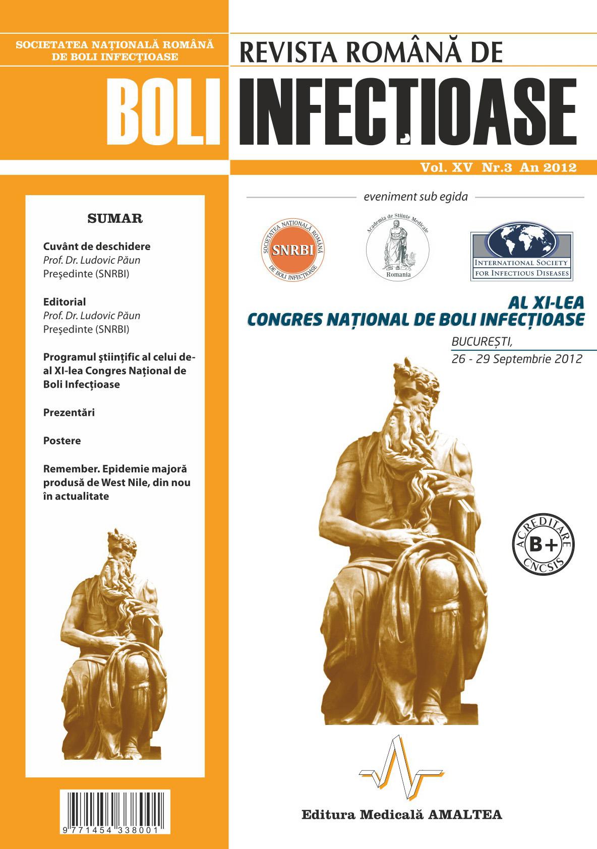 Revista Romana de Boli Infectioase | Vol. XV, No. 3, 2012