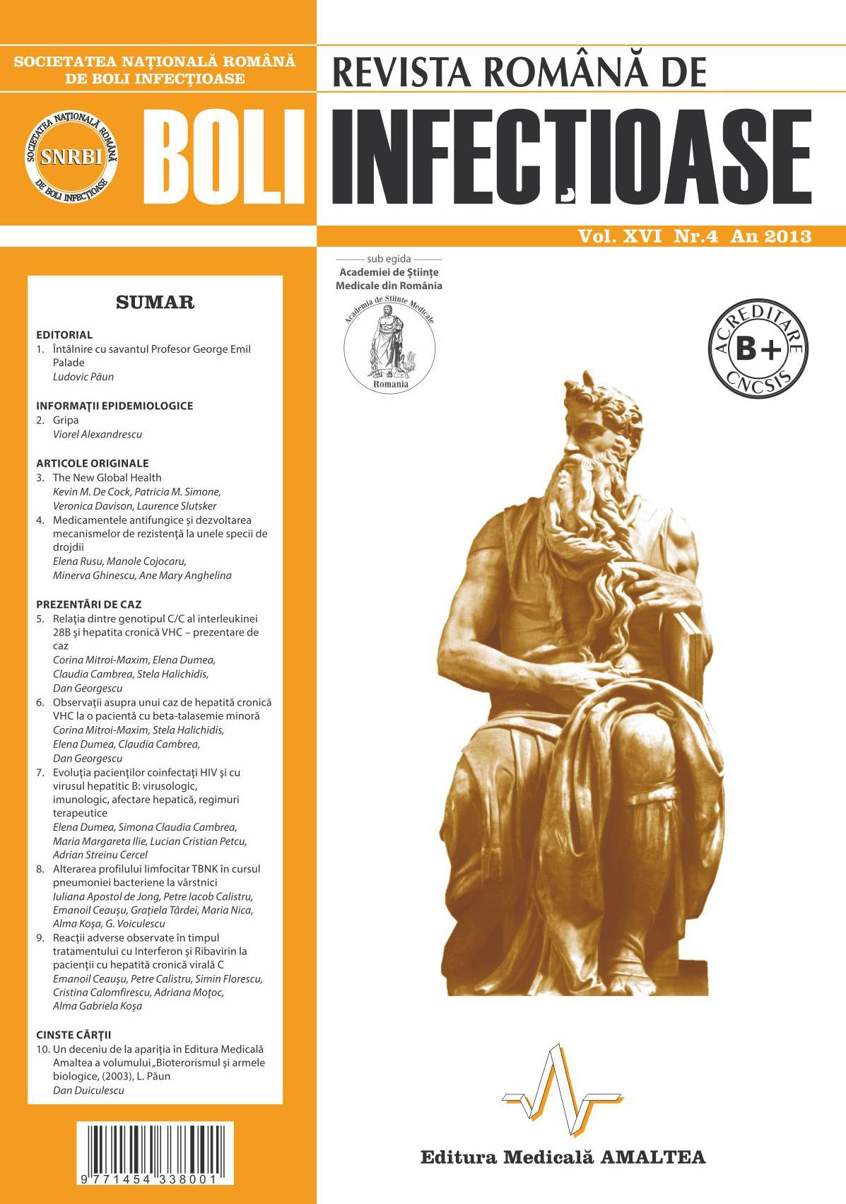 Revista Romana de Boli Infectioase | Vol. XVI, No. 4, 2013