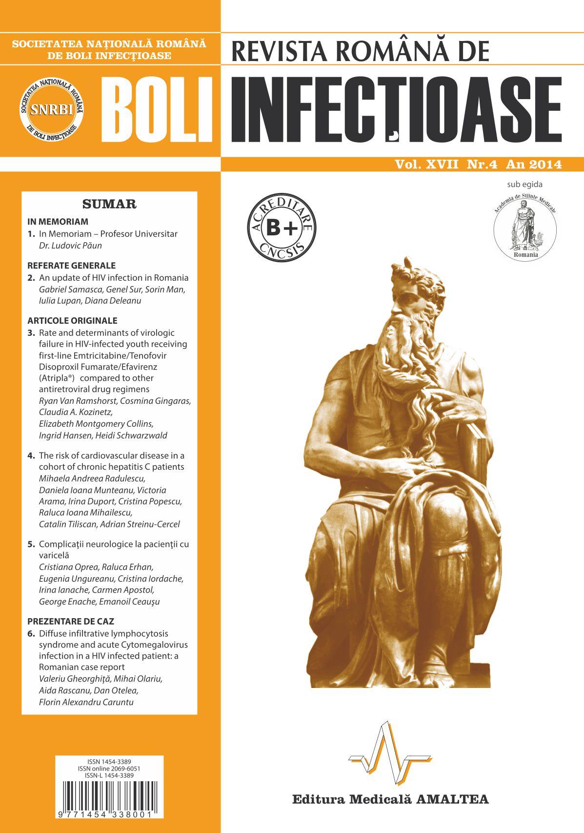 Revista Romana de Boli Infectioase | Vol. XVII, No. 4, 2014