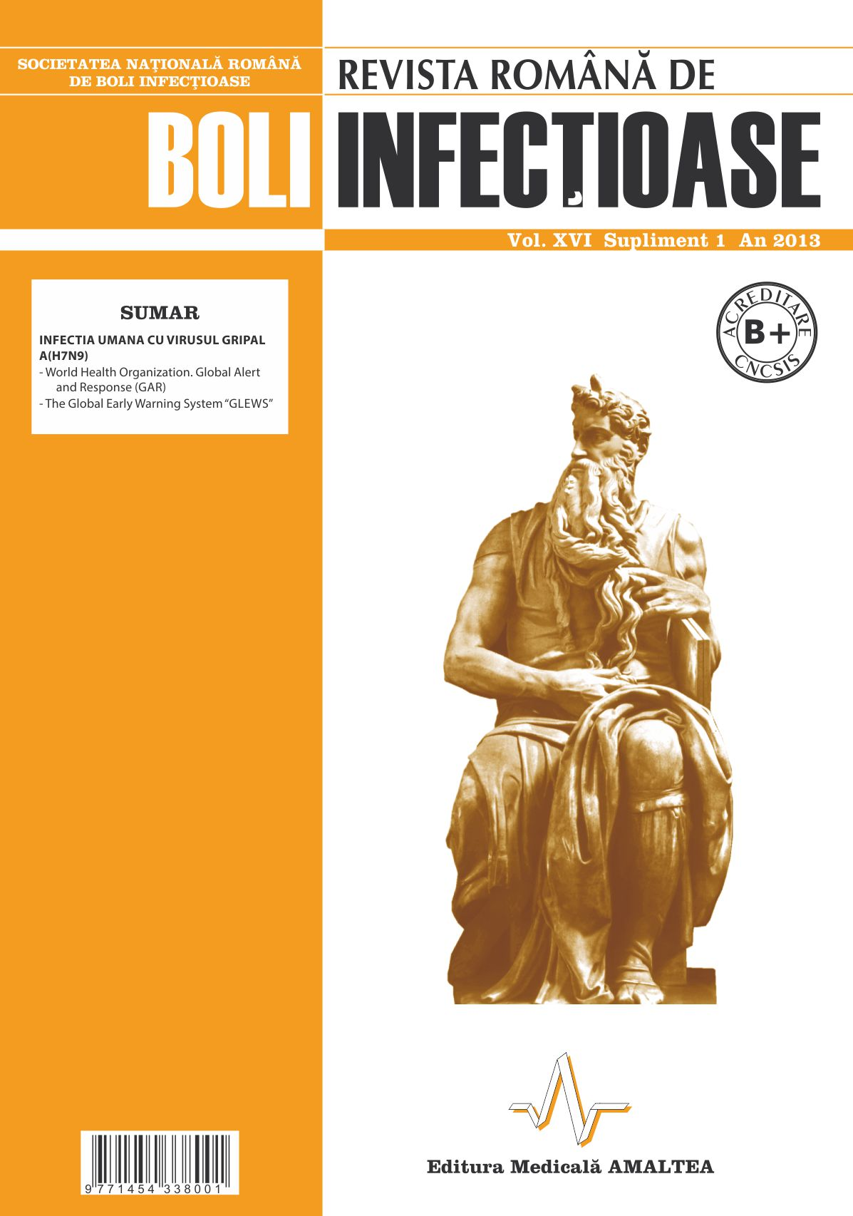 Revista Romana de Boli Infectioase   Vol. XVI, Supliment 1, 2013