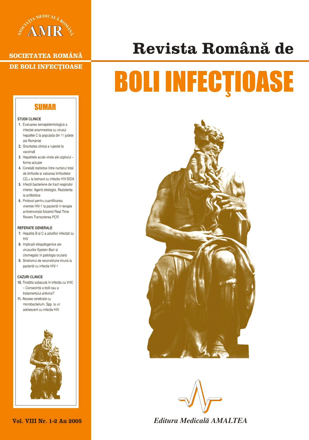 Revista Romana de Boli Infectioase | Vol. VIII, No. 1-2, 2005