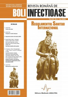 Romanian Journal of Infectious Diseases | Vol. XI, No. 1, Year 2008