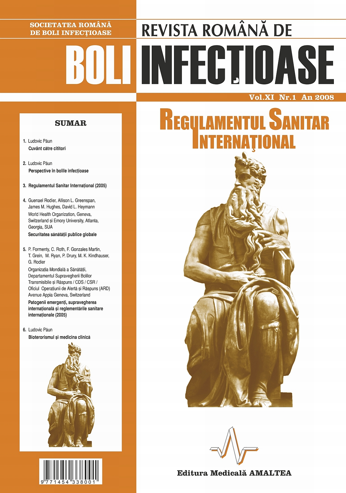 Revista Romana de Boli Infectioase | Vol. XI, No. 1, 2008