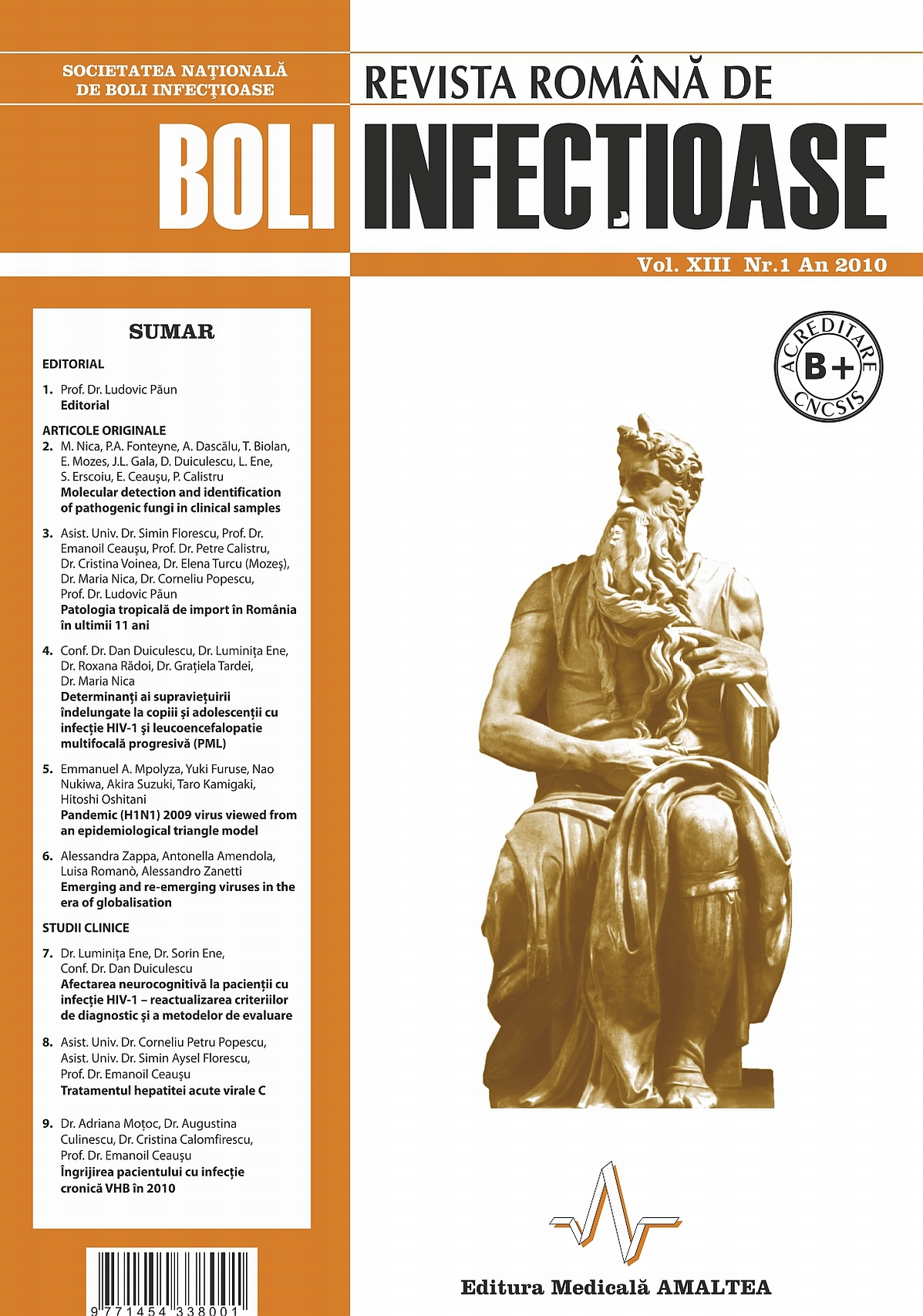 Revista Romana de Boli Infectioase | Vol. XIII, No. 1, 2010
