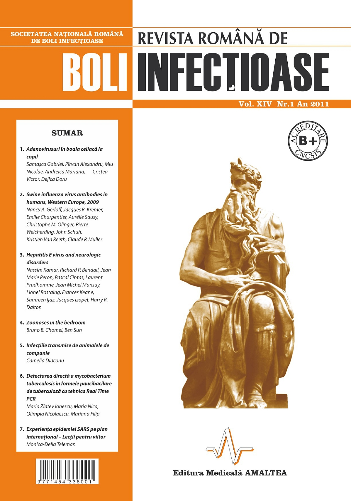 Revista Romana de Boli Infectioase | Vol. XIV, No. 1, 2011