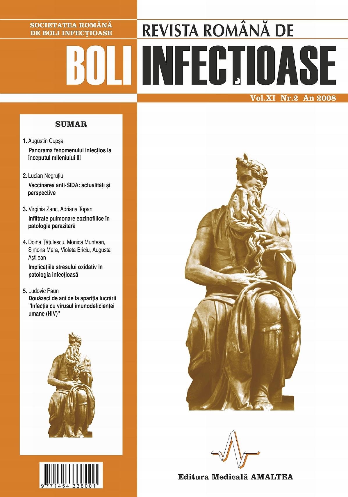 Revista Romana de Boli Infectioase | Vol. XI, No. 2, 2008