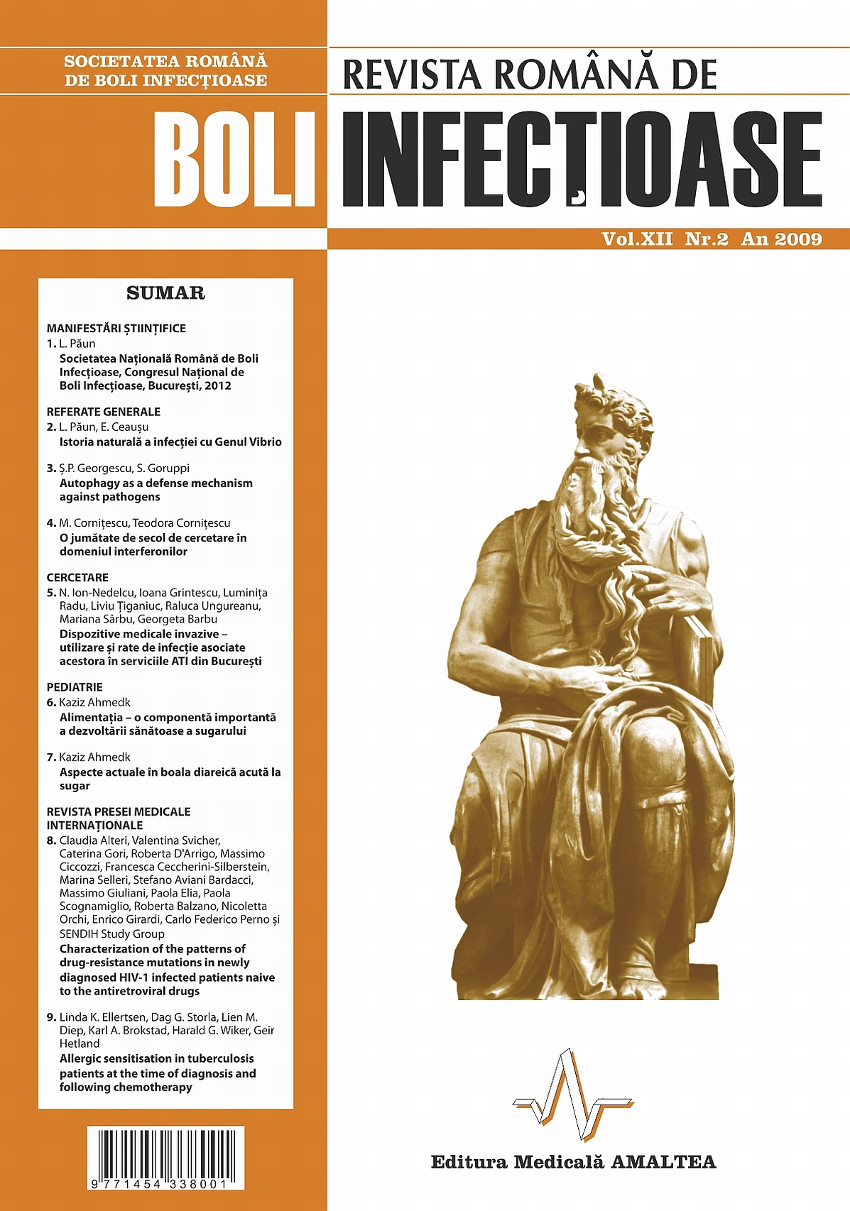 Revista Romana de Boli Infectioase | Vol. XII, No. 2, 2009