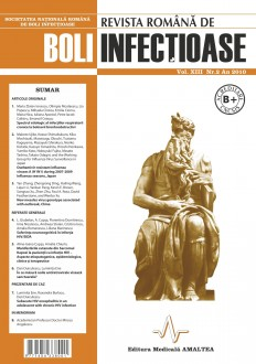 Revista Romana de Boli Infectioase | Volumul XIII, Nr. 2, An 2010