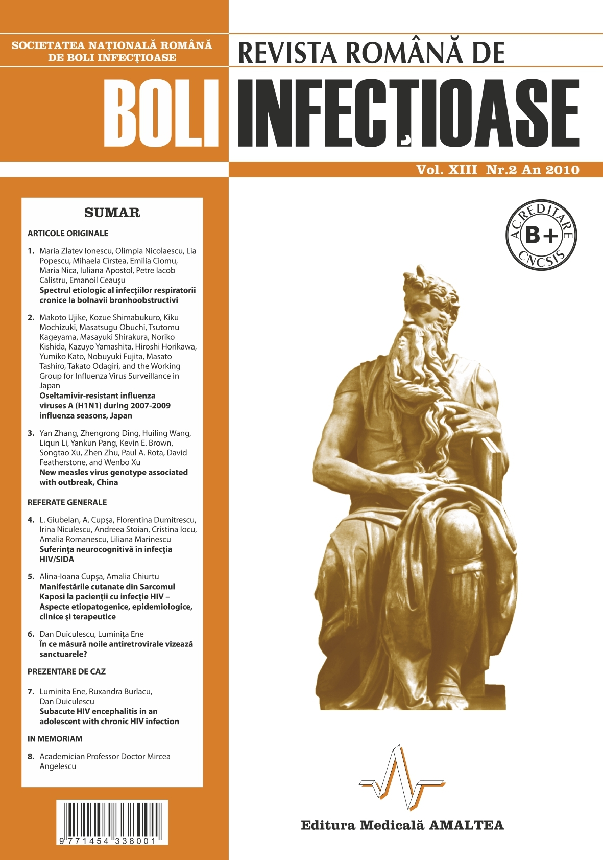 Revista Romana de Boli Infectioase | Vol. XIII, No. 2, 2010