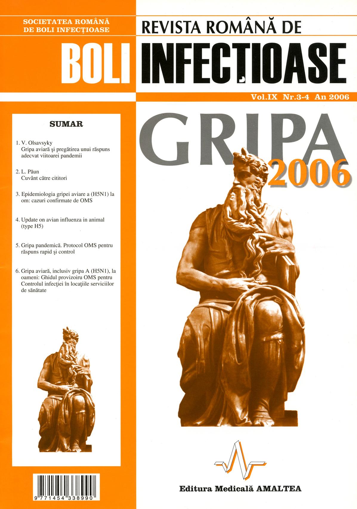 Revista Romana de Boli Infectioase | Vol. IX, No. 3-4, 2006