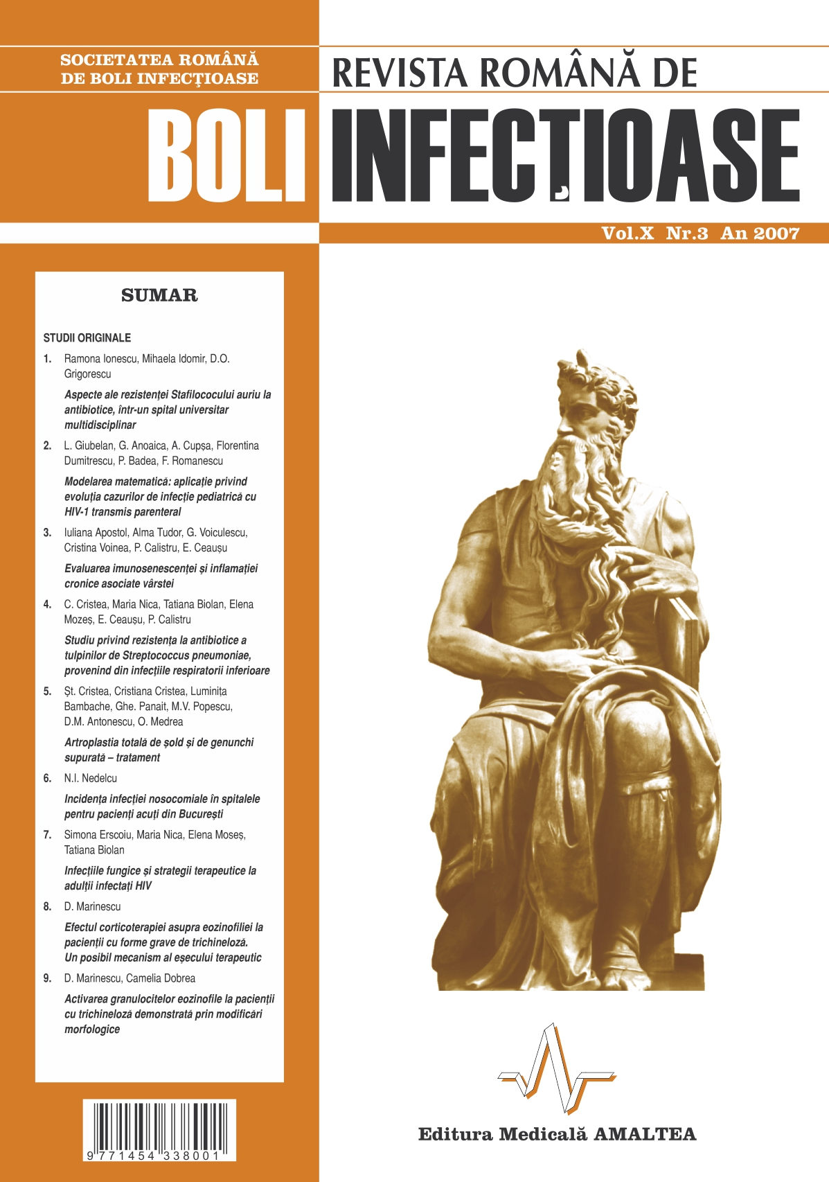Revista Romana de Boli Infectioase | Vol. X, No. 3, 2007