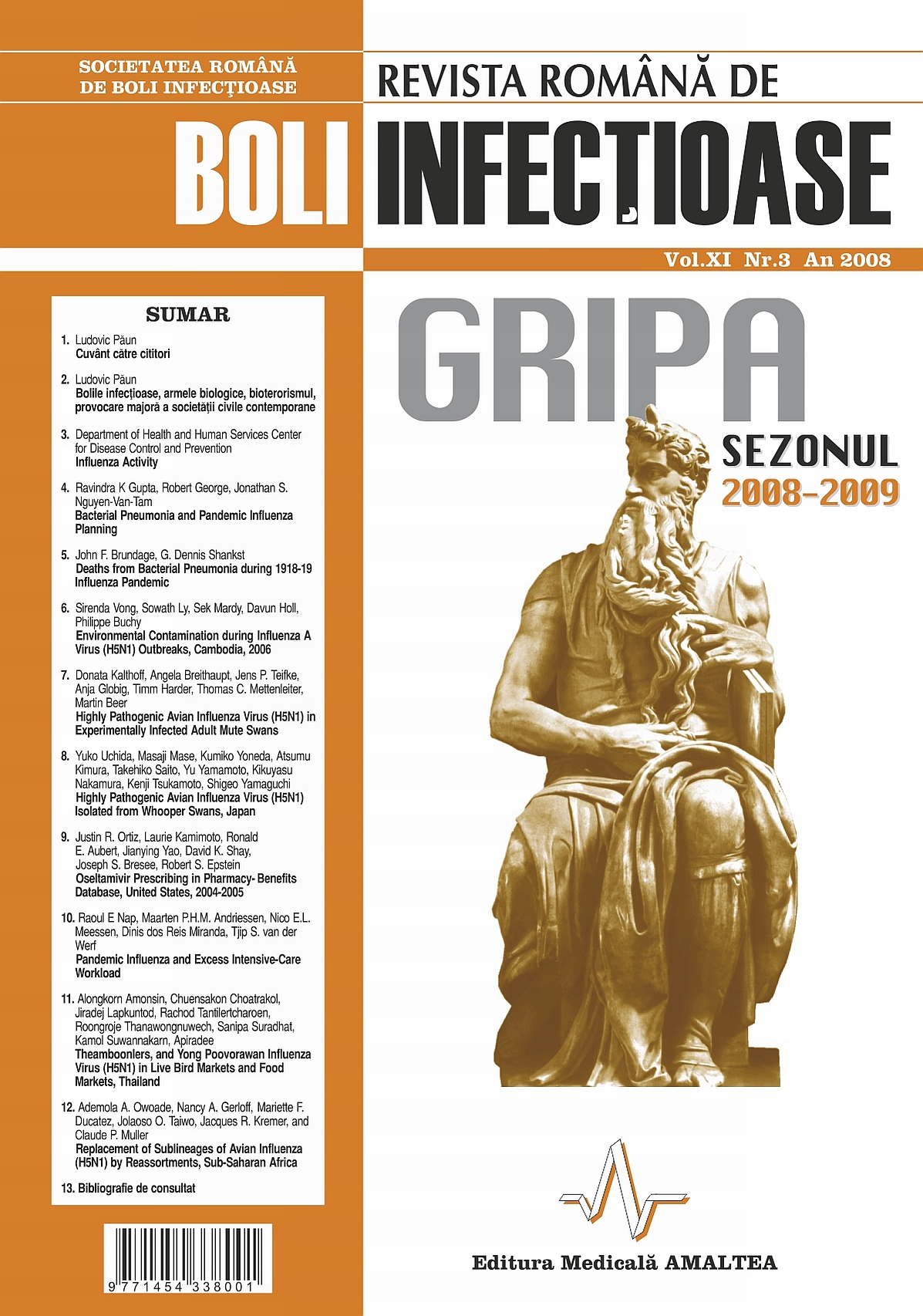 Revista Romana de Boli Infectioase | Vol. XI, No. 3, 2008