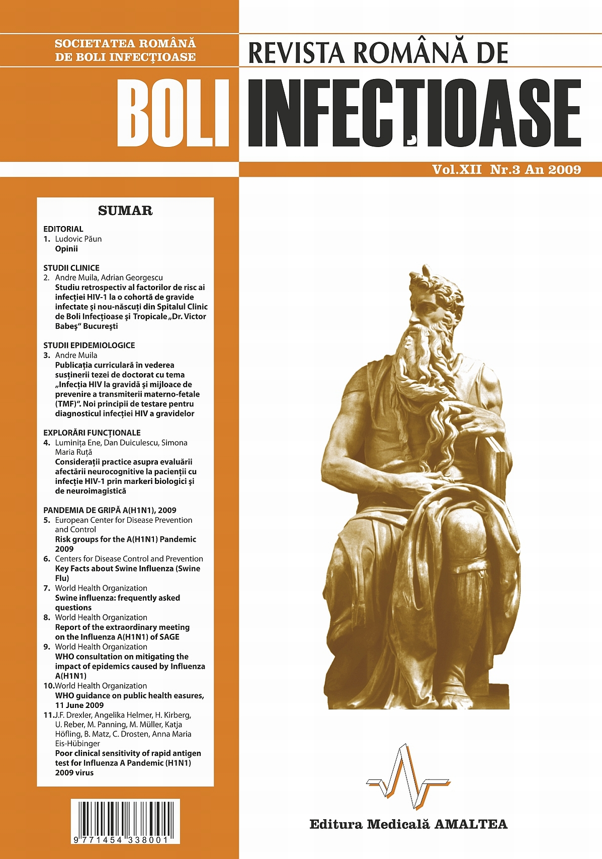 Revista Romana de Boli Infectioase | Vol. XII, No. 3, 2009