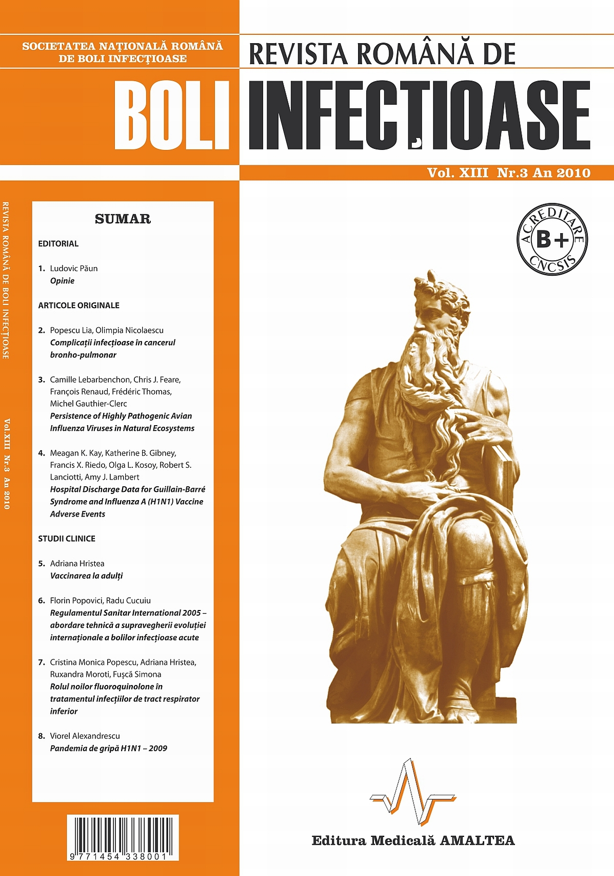 Revista Romana de Boli Infectioase | Vol. XIII, No. 3, 2010