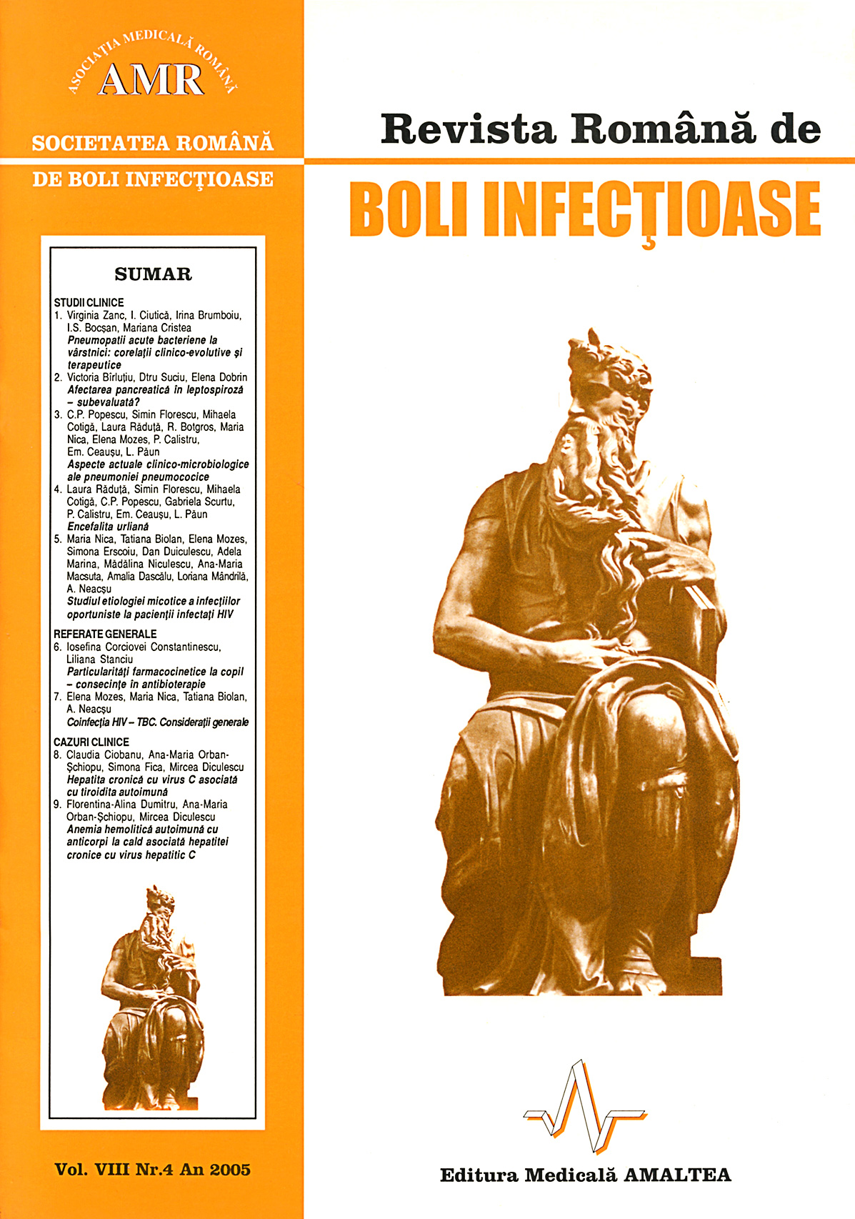 Revista Romana de Boli Infectioase | Vol. VIII, No. 4, 2005