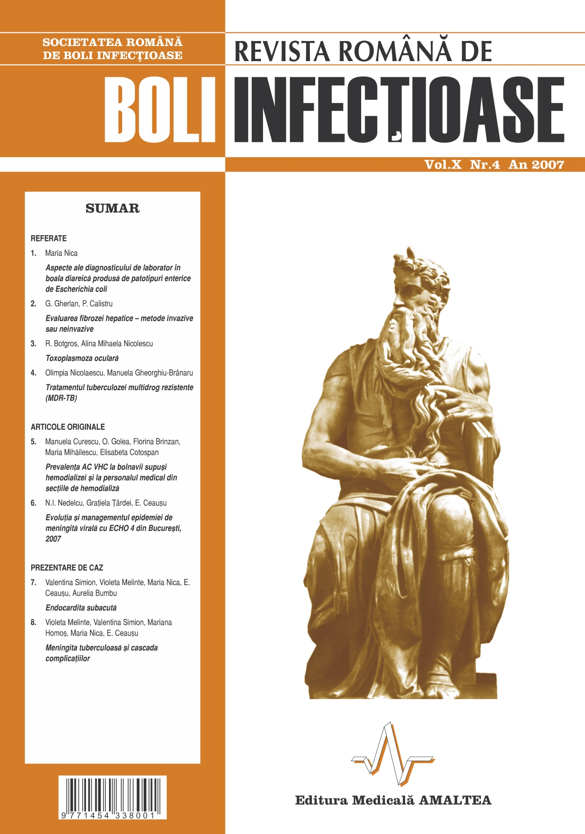 Revista Romana de Boli Infectioase | Vol. X, No. 4, 2007