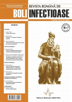 Revista Romana de Boli Infectioase | Volumul XII, Nr. 4, An 2009