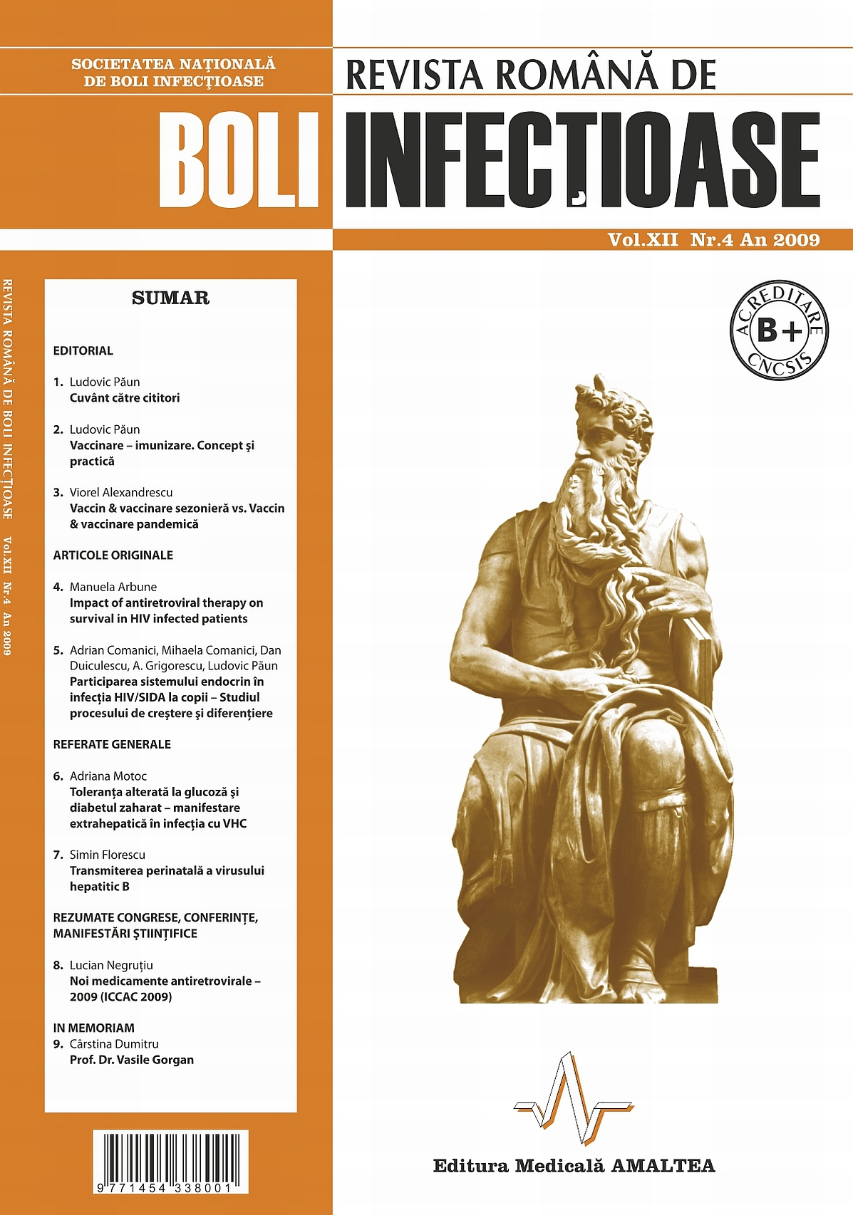 Revista Romana de Boli Infectioase | Vol. XII, No. 4, 2009
