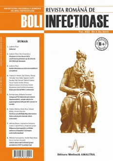 Revista Romana de Boli Infectioase | Volumul XIII, Nr. 4, An 2010