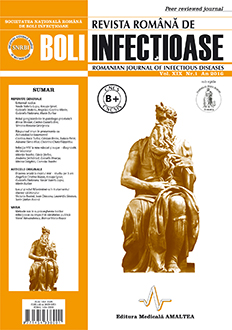 Revista Romana de Boli Infectioase | Vol. XIX, No. 1, 2016