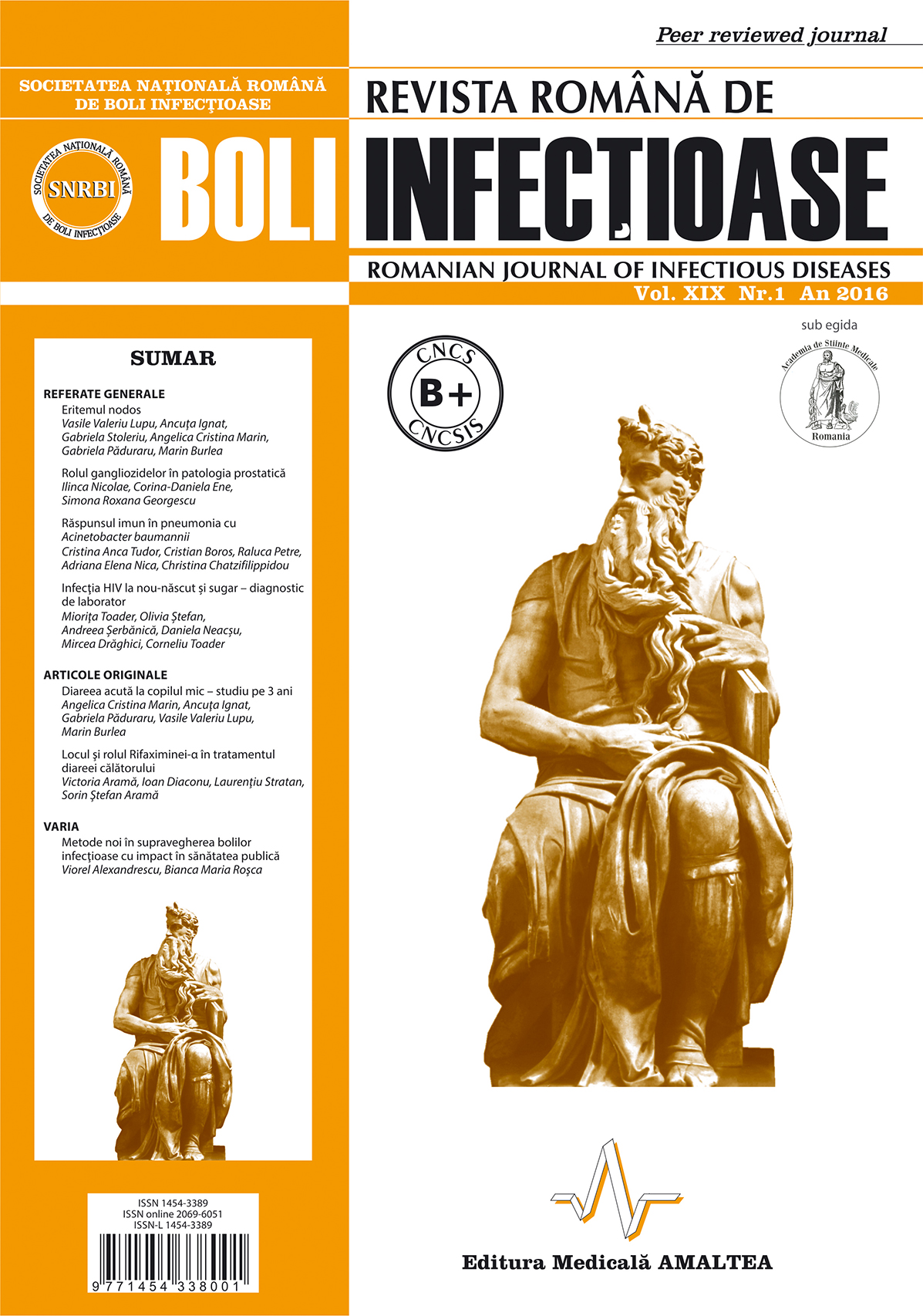 Revista Romana de Boli Infectioase | Vol. XIX, No. 1, 2016