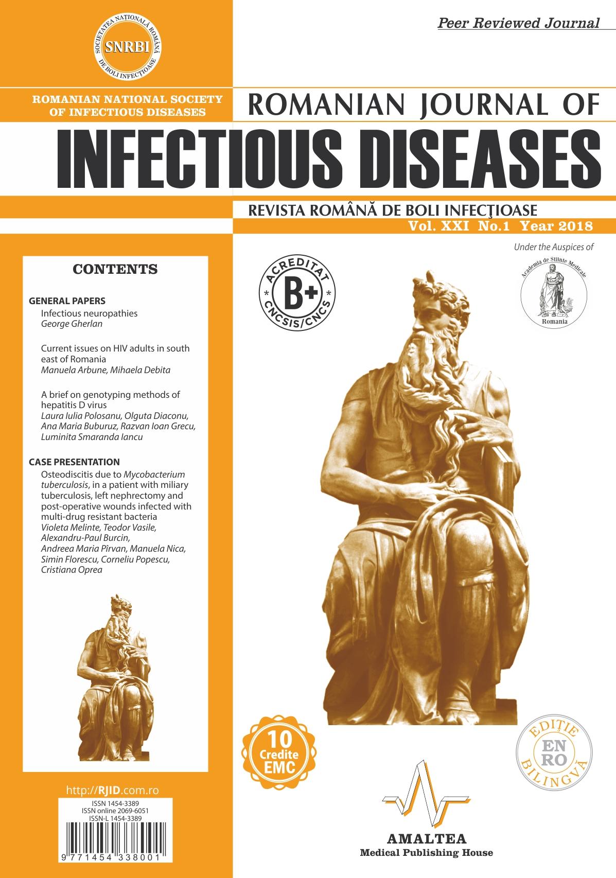 Revista Romana de Boli Infectioase | Vol. XXI, No. 1, 2018