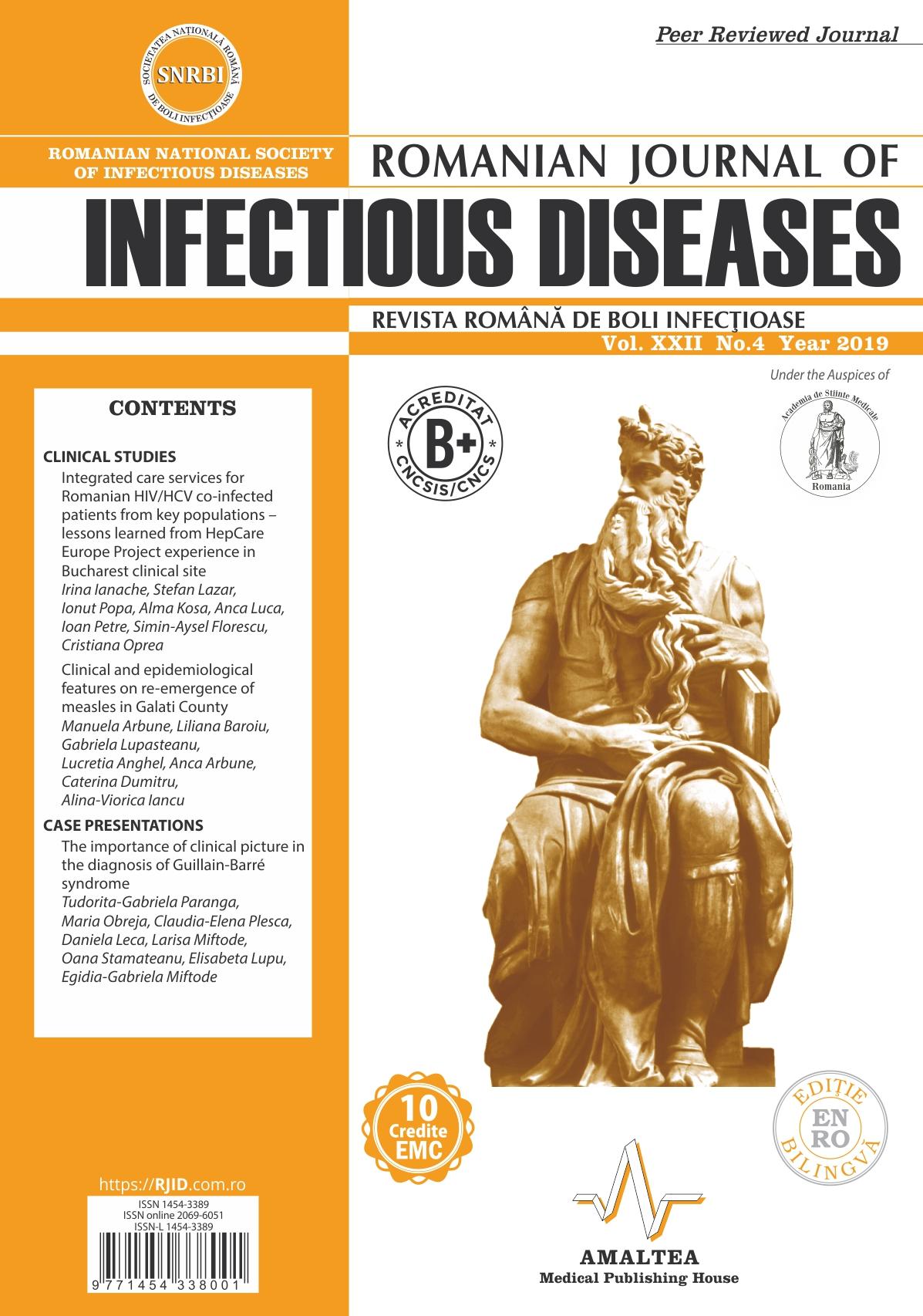 Revista Romana de Boli Infectioase | Vol. XXII, No. 4, 2019