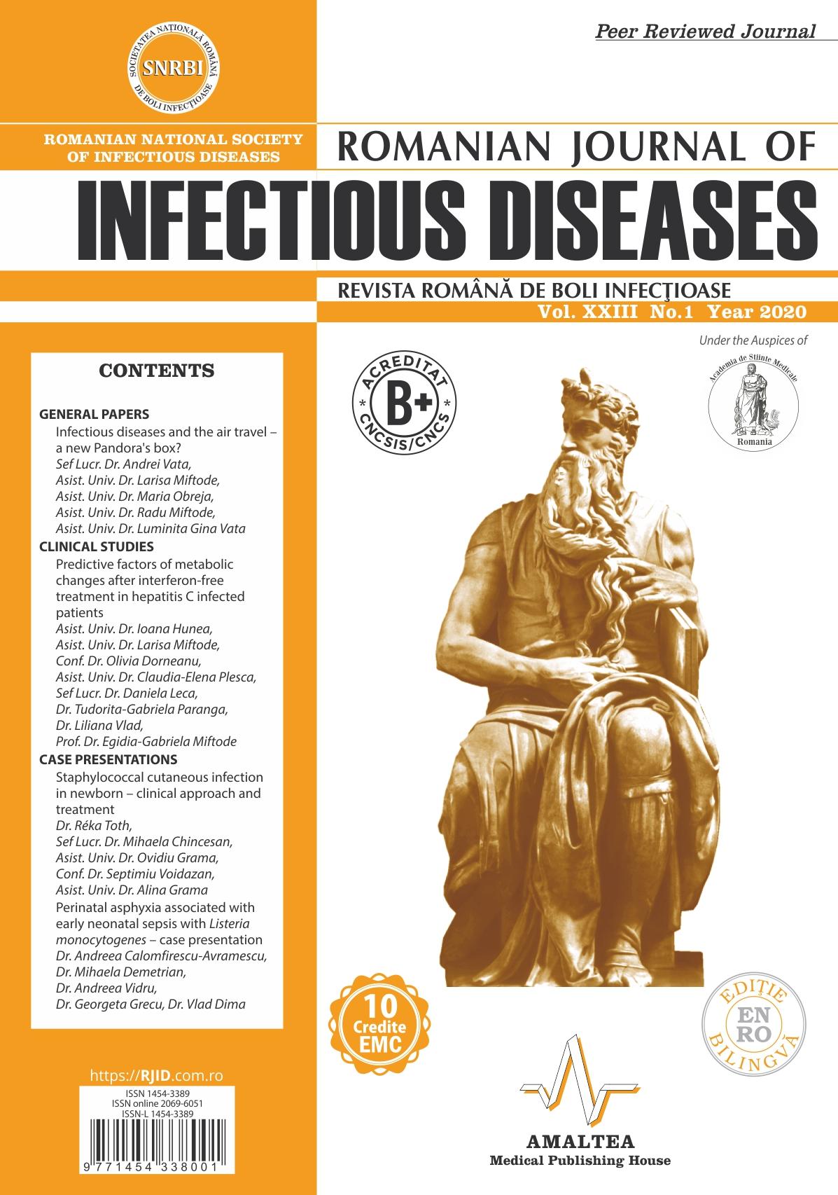 Revista Romana de Boli Infectioase | Vol. XXIII, No. 1, 2020