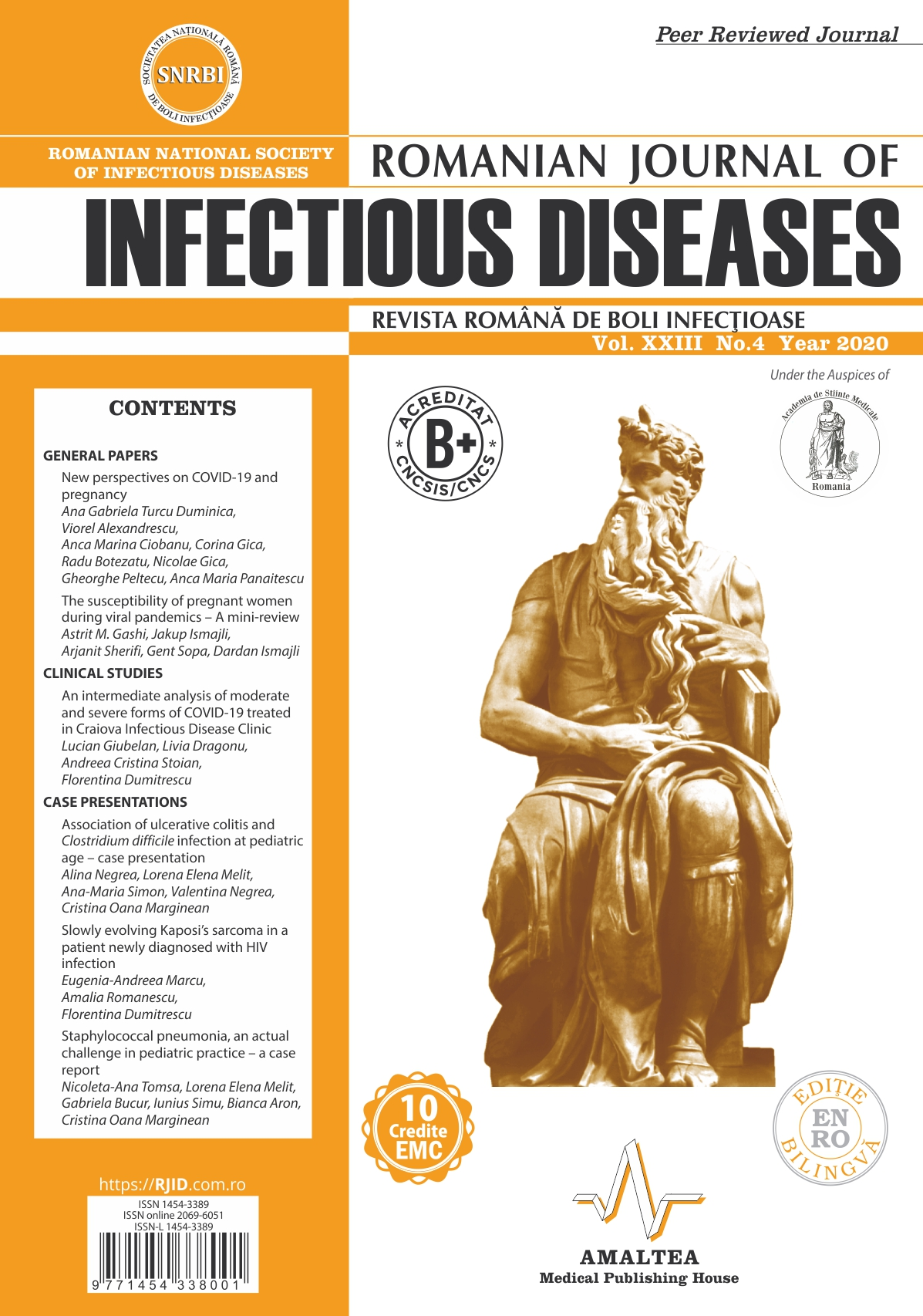 Revista Romana de Boli Infectioase | Vol. XXIII, No. 4, 2020