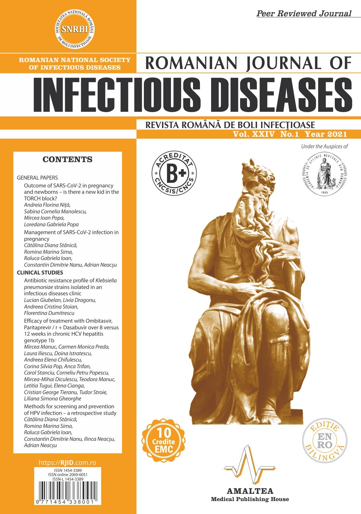 Revista Romana de Boli Infectioase | Vol. XXIV, No. 1, 2021